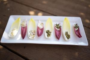 Endive, Chevre and Pepitas Appetizer