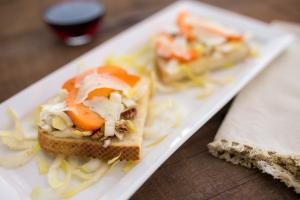 Endive and Apricot Tartines