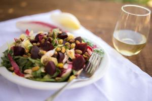 Endive Salad with Beets, Chicken and Pistachios