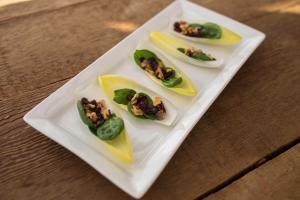 Endive, Cranberries, Spinach and Roasted Walnuts Appetizer
