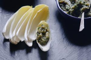 Eggplant Dip with Endive