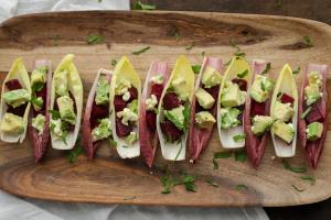 Endives with Roasted Beet and Avocado