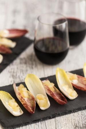 Ginger Pear and Goat Cheese Endive Appetizer